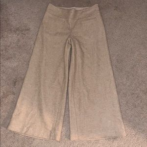 Elevenses Wide Leg Wool Cropped Trouser 2